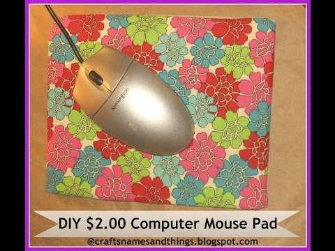How to Make Your Own Computer Mousepad/DIY $2.00 Computer Mouse Pad made with Fun Foam