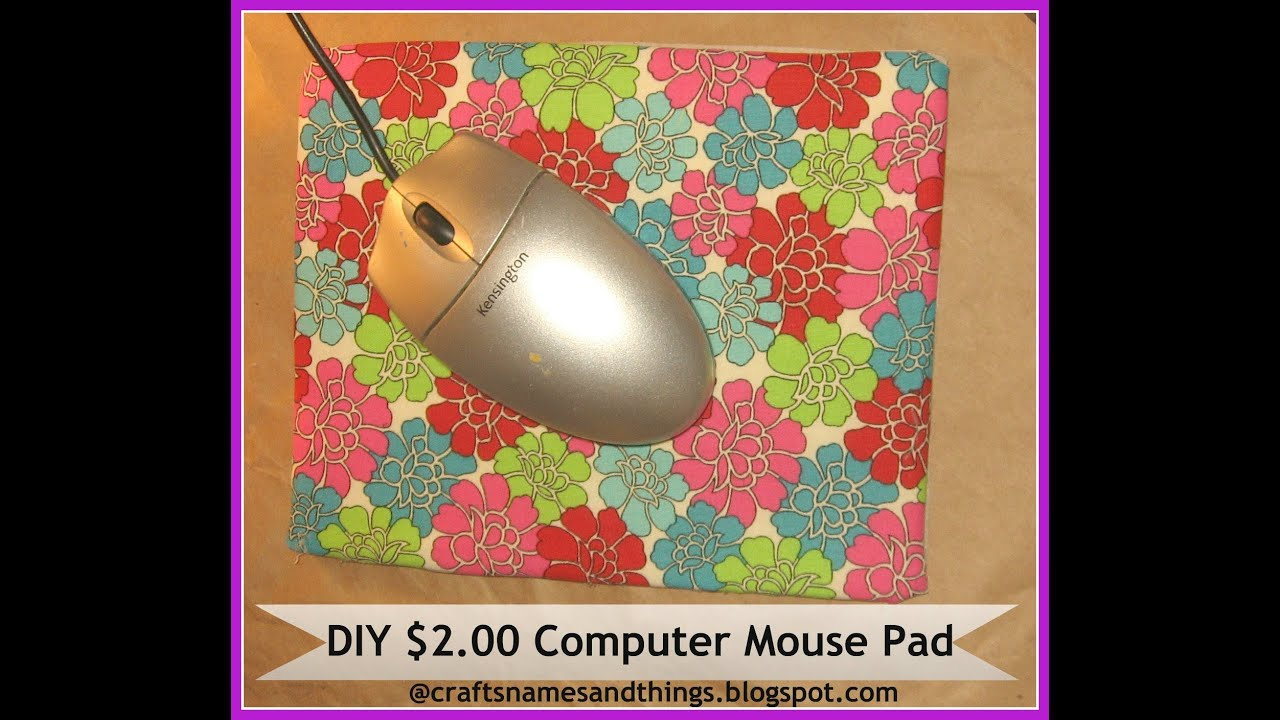 how to make your own computer mousepad diy computer. Black Bedroom Furniture Sets. Home Design Ideas