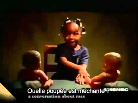 Racisme test de la poupée blanche et la poupée noire - YouTube