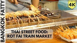 Thai Street Food in the Rot Fai Train Market in Ratchada
