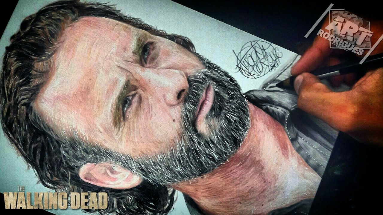 Desenhando O Rick Grimes The Walking Dead Youtube