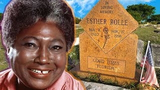 Good times!! The grave of Esther Rolle