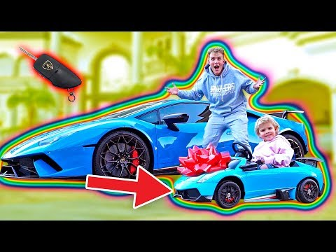 Download Youtube: SURPRISING MINI JAKE PAUL WITH A MINI LAMBORGHINI!!