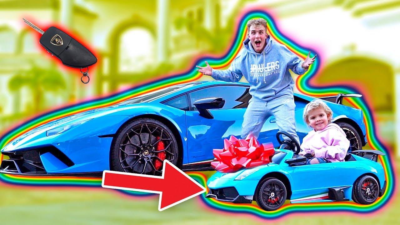 Surprising Mini Jake Paul With A Mini Lamborghini Youtube