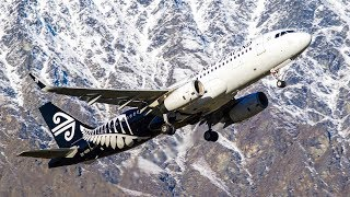 SNOW CAPPED MOUNTAINS | Queenstown Airport Plane Spotting | #1 thumbnail