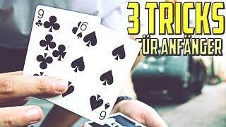 ZAUBERN LERNEN mit den 3 EINFACHSTEN Kartentricks der Welt (für Anfänger)