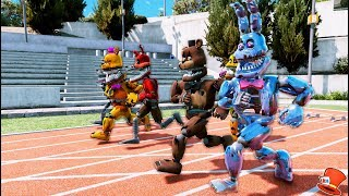 GUESS WHO'S THE FASTEST NIGHTMARE ANIMATRONIC! (GTA 5 Mods For Kids FNAF RedHatter)