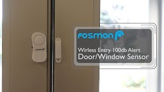 Best Door Chime or Security Window Alarm for Your Home or Business [Fosmon]