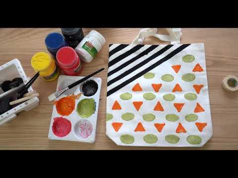 "Easy DIY Tote Bag by ""Fastex Textile Ink"""
