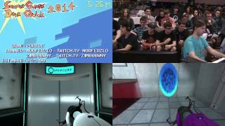 Summer Games Done Quick 2014 - Part 158 - Portal