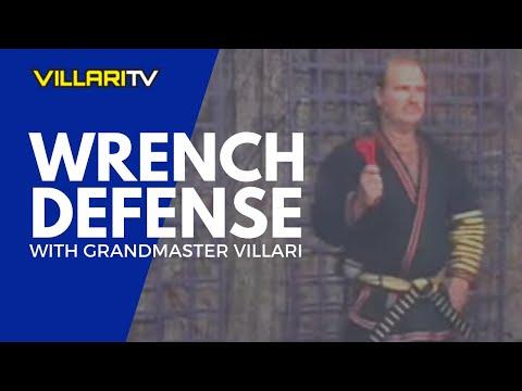 Classic Shaolin Kempo Karate Grandmaster Villari against the Wrench