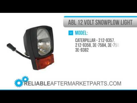 1259 3005 12v New Caterpillar 12 Volt Abl Snowplow Head Lamp Light 3e7854 3e7855 Cat