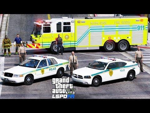 GTA 5 LSPDFR Police Mod #621  Miami-Dade Police Department - Miami-Dade County