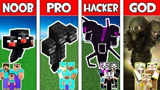 Minecraft NOOB vs PRO vs HACKER vs GOD : FAMILY WITHER STORM MUTANT in Minecraft! Animation