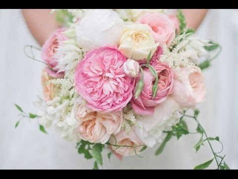 lush white garden rose and peony bouquet - Garden Rose And Peony