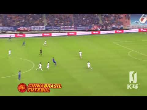 2° Gol Giovanni Moreno - Shanghai Shenhua x Guanzghou R&F - 26a Rodada da Super Liga da China 2017