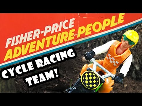 Fisher-Price Adventure People Cycle Racing Team Set #356 1977 To 1984