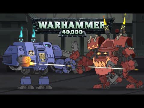 Дредноут Mk.V Vs Смертодред орков - Мультики про танки ( Warhammer 40000 )