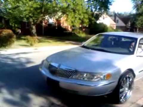 lincoln continental on 24inch m o z 39 s youtube. Black Bedroom Furniture Sets. Home Design Ideas