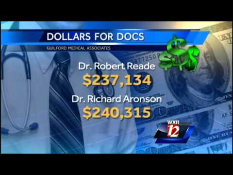 How much money do Triad doctors receive from drug companies?