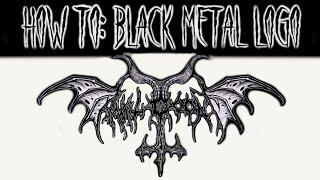 Скачать How To Draw A Black Metal Logo