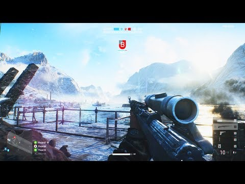 Battlefield 5 Multiplayer Squad Teamwork & Sniper Gameplay thumbnail