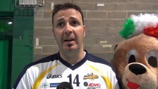 13-12-2015: #A2MVolley Alessandro Giosa nel post Materdomini-Alessano 3-1