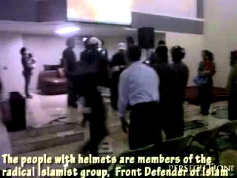 Radical Islamic Group (FPI) Attack Church in Indonesia