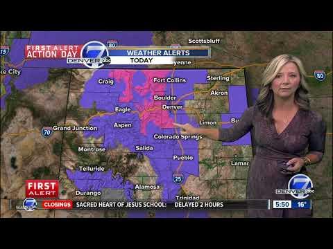 More Snow For Denver's Morning Commute – 6 A.m. Forecast