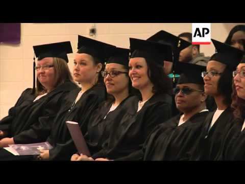 While serving time in prison, nine female inmates at a Tennessee prison earned associate degrees. We