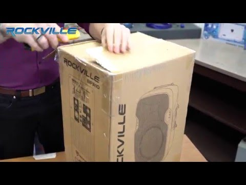 """UNBOXING ROCKVILLE BPA10 10"""" PROFESSIONAL POWERED ACTIVE 400W DJ PA SPEAKER W BLUETOOTH"""