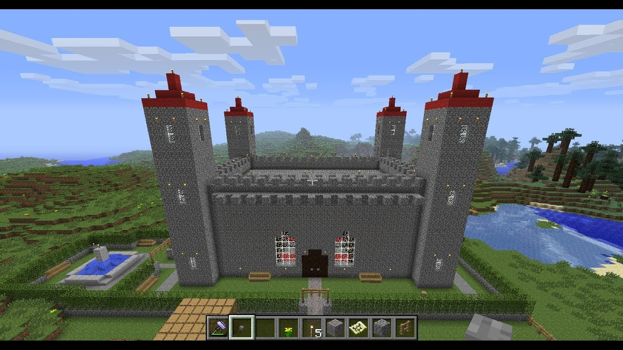how to build a castle in minecraft pe 0.11.1