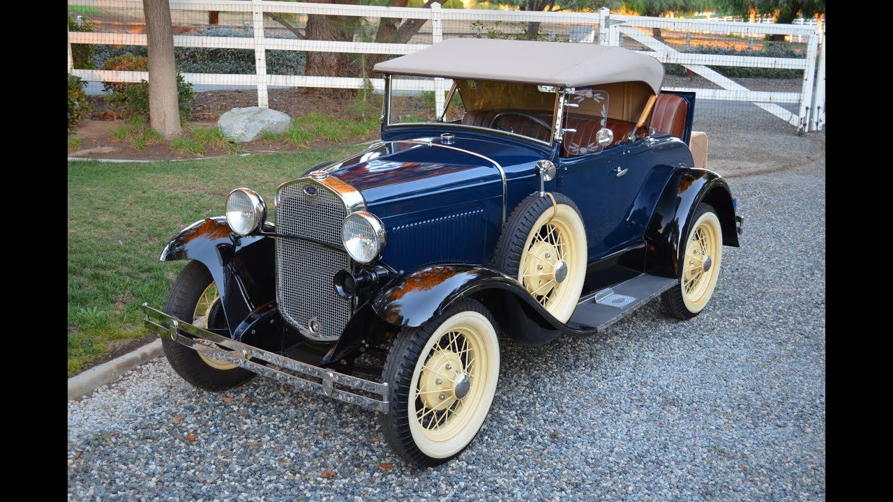1930 Ford Model A, Roadster, Restored, For Sale, SOLD - YouTube