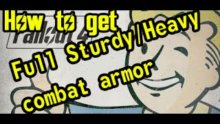 Fallout 4 - How to get full Sturdy Heavy Combat Armor - Gunners Plaza