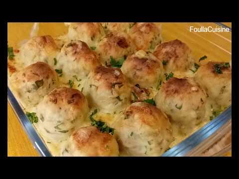 boulettes-de-pommes-de-terre-à-la-sauce-créme-poulet(-رمضان)-كريات-البطاطا-بصوص-الدجاج-و-الكريمة-/