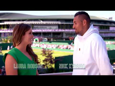 Wimbledon All Access: Laura Robson Interviews Nick Kyrgios