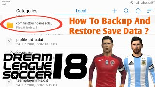 How To Backup And Restore Save Data Of Dream League Soccer