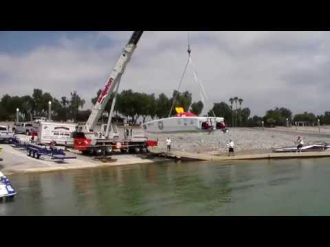HOW TO LAUNCH A MILLION DOLLAR OFF SHORE BOAT.
