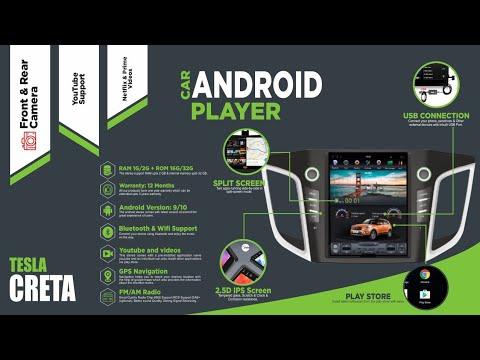Hyundai Creta Android Player Tesla After Installation