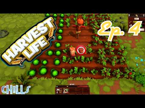 """Harvest Life Ep. 4 """"In the woods with wolves!"""" Farming Country Life PC Gameplay"""