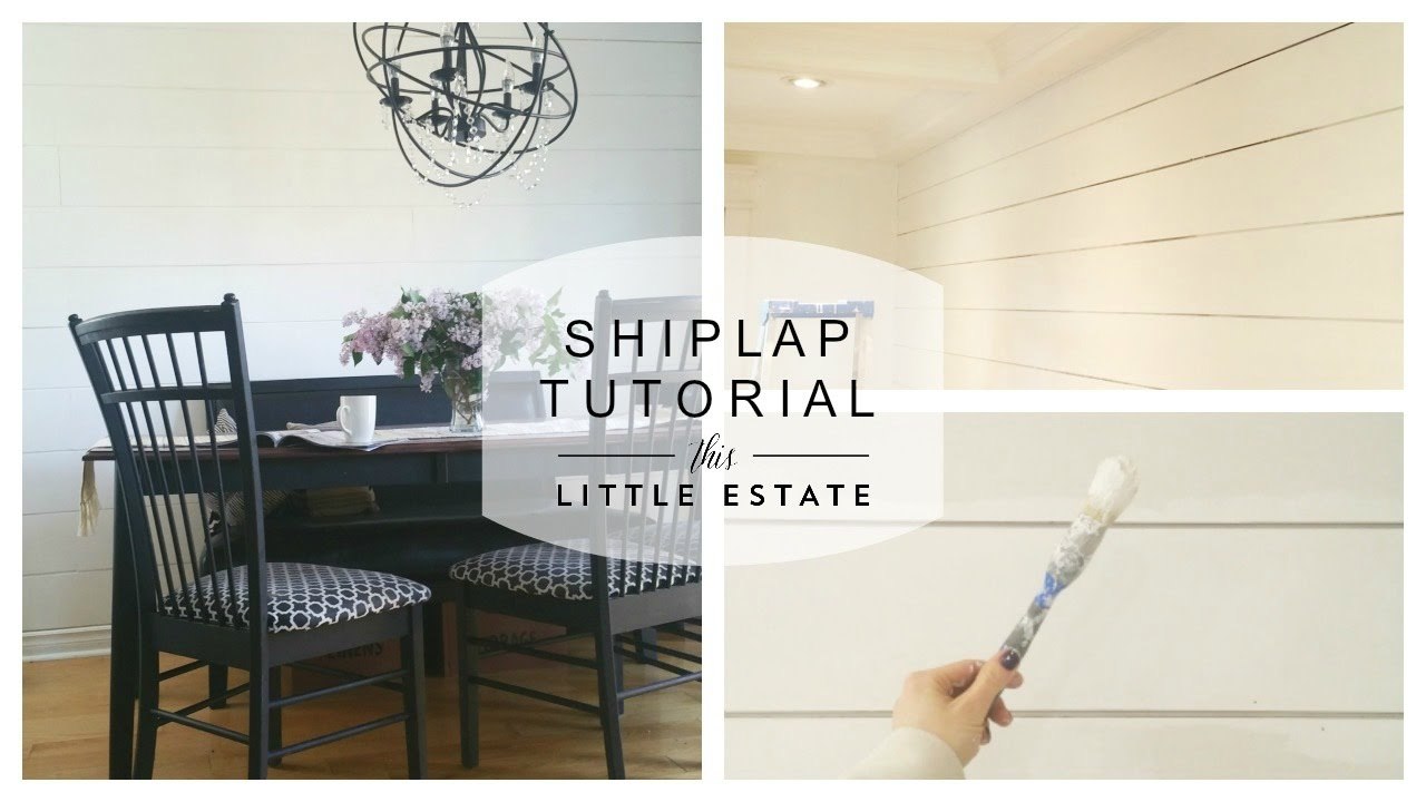 How To Install Shiplap Youtube