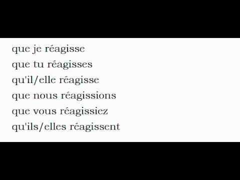 Conjugaison Visuelle Verbe Reagir Youtube