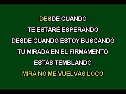 Alejandro Sanz - Desde cuando (karaoke)