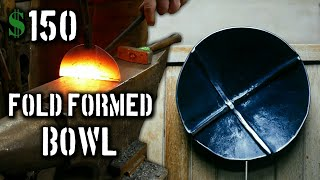 Forging a Round Fold Formed Bowl (Creating a Blacksmith Made Bowl)