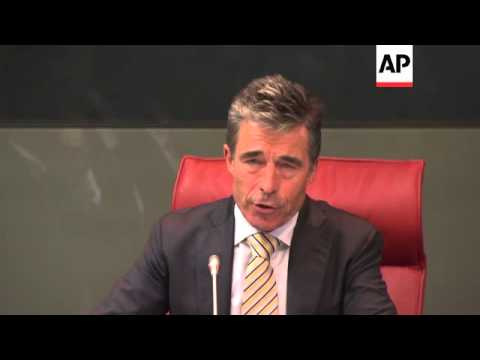 Joint news conference by NATO Secretary General and Spanish FM; comments on Iraq