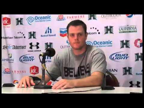 Sean Schroeder Post Game Press Conference Hawaii vs. Lamar 9-15-12