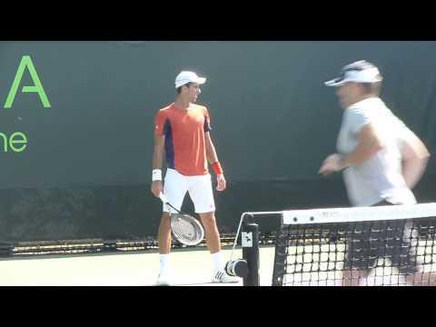 Novak Djokovic practice, Miami - Sony Ericsson Open 2013.