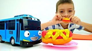 Видео для детей. Хот-Дог из Плей До для Тайо