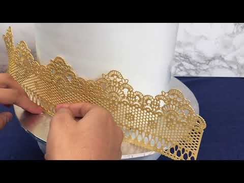 how-to-make:-gold-edible-cake-lace-|-cakes-by-kasib