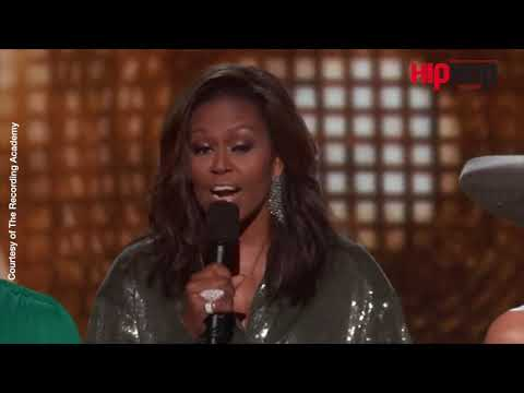 Michelle Obama Receives Standing Ovation at the 2019 Grammys
